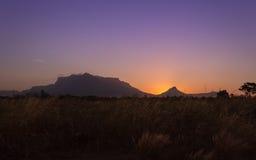 Der orange Sonnenuntergang Lizenzfreie Stockbilder
