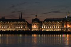 Der Ort der Börse im Bordeaux Lizenzfreies Stockbild