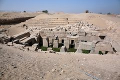 Der Osirions-Tempel bei Abydos, Ägypten Stockbild
