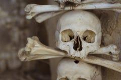 Der Ossuary in Sedlec Kostnice, Kutna Hora, Tschechische Republik Lizenzfreie Stockfotos