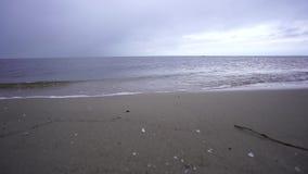 In der Ostsee durch Ahlbeck stock footage