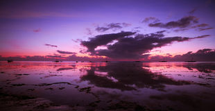 Der Ozean-Dämmerung Stockfotografie