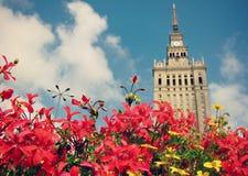 Der Palast der Kultur und der Wissenschaft in Warschau Stockfotografie
