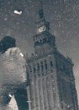 Der Palast der Kultur und der Wissenschaft in Warschau Lizenzfreies Stockfoto