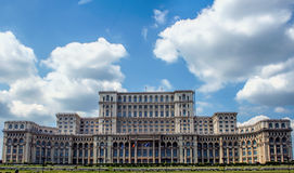 Der Palast der Leute in Bukarest Rumänien Stockbilder