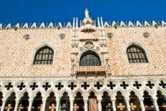 Der Palast des Dogen ausführlich Venedig-Sonnenaufgang lizenzfreie stockfotos