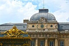 Der Palast des Gerechtigkeits-Palastes von Gerechtigkeit ist in der Mitte von Paris Der ehemalige Gefangene, jetzt das MU stockfotos