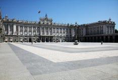 Der Palast königlich in Madrid lizenzfreie stockfotos