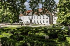 Der Palast in Nieborow, Polen Lizenzfreie Stockfotos