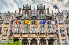 Der Palast der Prinz-Bischöfe in Lüttich, Belgien stockfotografie