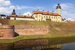 Der Palast- und Schlosskomplex - Nesvizh-Schloss belarus Lizenzfreie Stockfotos