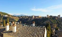 Der Palast von Alhambra in Granada, Spanien Stockfotografie