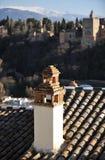 Der Palast von Alhambra in Granada, Spanien Lizenzfreie Stockfotografie