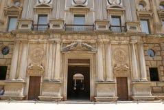 Der Palast von Charles V, Alhambra in Granada, Andalusien, Spanien, Europa Lizenzfreies Stockfoto
