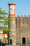 Der Palast von Cortes in Cuernavaca, Mexiko stockbild