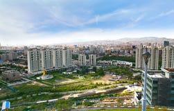 Der Panoramablick der gesamten Stadt von Ulaanbaatar, Mongolei stockfotografie