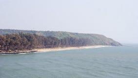 Der panoramische Arambol-Strand Lizenzfreie Stockfotografie