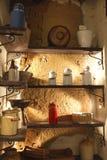 Der Pantry eines Bauernhauses lizenzfreies stockbild