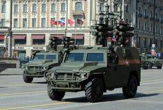 Der Panzerkampfwagen Tiger Panzerabwehr- Kornet-E während einer Wiederholung der Parade Lizenzfreies Stockfoto