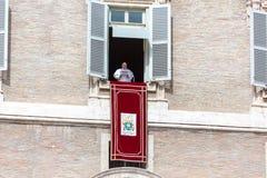 Der Papst Speaks von einem Fenster lizenzfreie stockbilder
