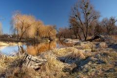 Der Park in der kleinen ukrainischen Stadt Lizenzfreie Stockfotos