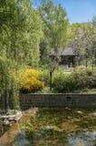 Der Park des Shaolin-Klosters Stockbild