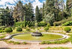 Der Park am Landhaus Toeplitz in Varese, Italien Lizenzfreie Stockbilder