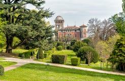 Der Park am Landhaus Toeplitz in Varese, Italien Lizenzfreie Stockfotos