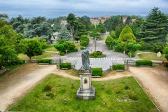 Der Park, Santiago de Compostela stockbilder