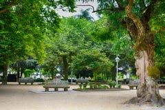 Der Park, Santiago de Compostela Stockfotos