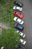 Der Parkplatz Stockbild