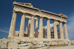 Der Parthenon, die Akropolis von Athen Stockbilder