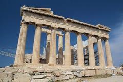 Der Parthenon, die Akropolis von Athen Stockbild