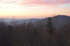 Der Pastellsonnenuntergang Stockbilder