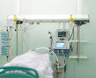 Der Patient im Bezirk Lizenzfreies Stockbild
