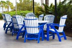 Der Patio an Charleston Harbor Resort u. am Jachthafen Lizenzfreie Stockbilder