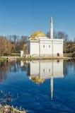 Der Pavillon des türkischen Bades in Catherine Park in Tsarskoye Selo Lizenzfreie Stockbilder