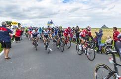 Der Peloton am Anfang Tour de France 2016 stockfoto