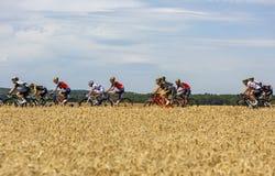 Der Peloton - Tour de France 2017 lizenzfreies stockbild