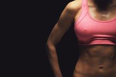 Der perfekte Körper des weiblichen Bodybuilders Lizenzfreie Stockbilder