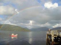 Der perfekte Regenbogen Lizenzfreies Stockbild