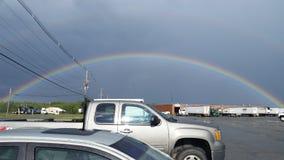 Der perfekte Regenbogen Stockfotografie