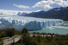 Der Perito Moreno Gletscher im Patagonia, Argentinien. Lizenzfreie Stockfotografie