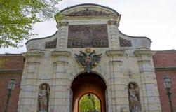 Der Petrovsky-Triumphbogen in St Petersburg Lizenzfreie Stockfotos