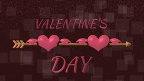 Der Pfeil des Amors, der die Herzen der Liebhaber schlägt, lizenzfreie abbildung