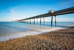 Der Pier am Abkommen in Kent stockbild