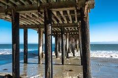Der Pier in Avila-Strand, Kalifornien lizenzfreies stockbild