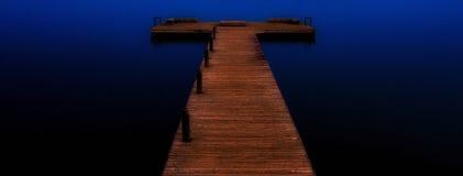 Der Pier, Kirkland, Washington State Stockbilder