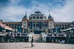 Der Pier von Scheveingen Den Haag in den Niederlanden stockbilder