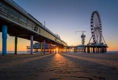 Der Pier von Scheveningen Lizenzfreies Stockbild
